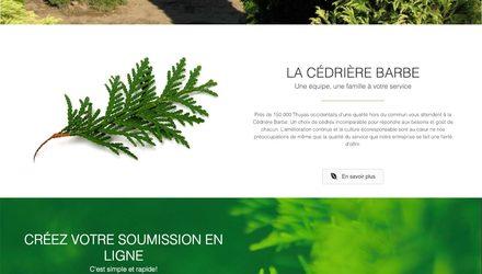 Conception site web laval - La Cédrière Barbe