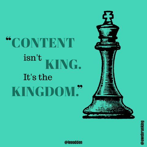 Content isn't King, it's the Kingdom
