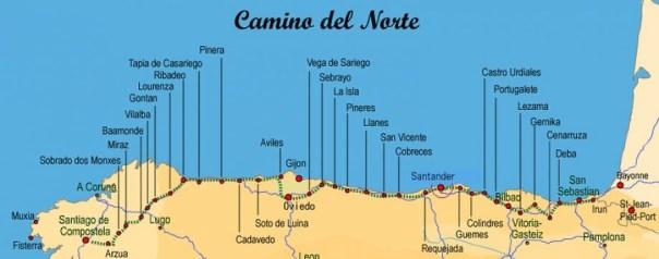 Afbeeldingsresultaat voor camino del norte route
