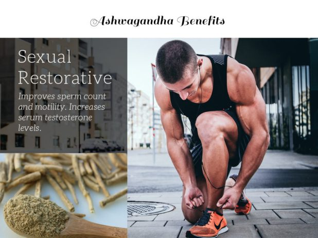 Athletic man running on the street is an example of Ashwagandha benefits - virility and sexual restorative. Ashwagandha side effects, ashwagandha dosage are also important.