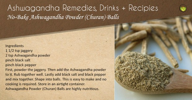 No-bake Ashwagandha churan balls.
