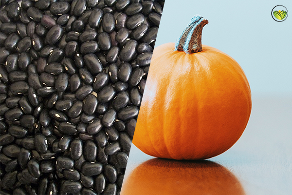 Vata And Pitta Pacifying Pumpkin Black Bean Side Dish