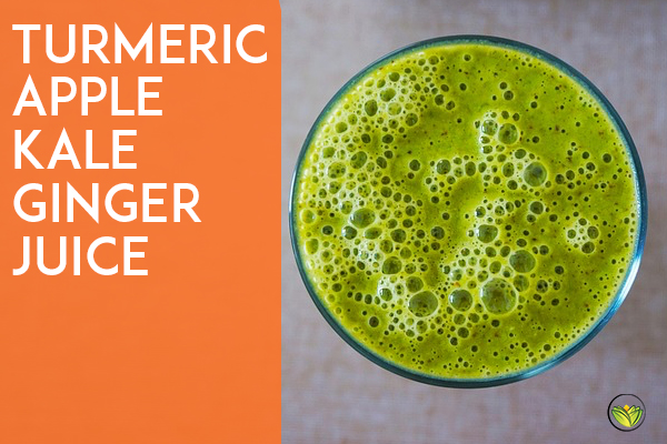 Turmeric Apple Kale Ginger Juice