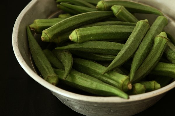 A bowl of okra. Is okra good for constipation? So many okra benefits, no okra side effects, and okra nutrition is rich.