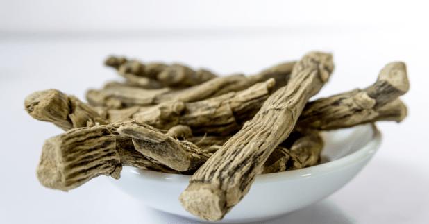 Ashwagandha benefits, A bowl of Ashwagandha root. Ashwagandha benefits, uses, side effects, dosage.