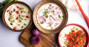 Three types of Raita, Raita without cucumber, easy Raita recipes, Raita pronunciation, Raita.