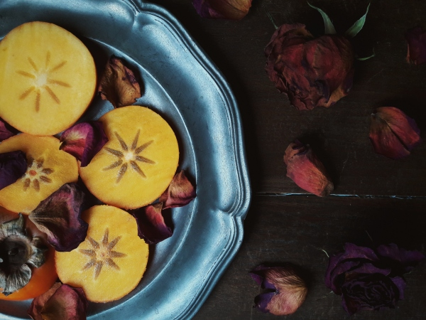 Persimmons, Kapha foods for summer.