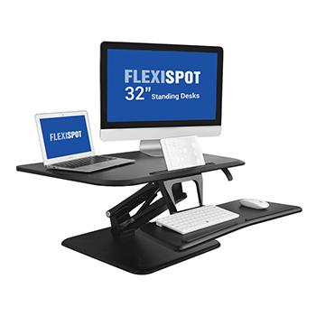 Sit-Stand Desktop Converter Flexispot F3MB F3MW Black Bakagain