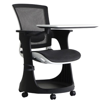 Eduskate Mobile Tablet Chair Black Mesh White Frame Eurotech