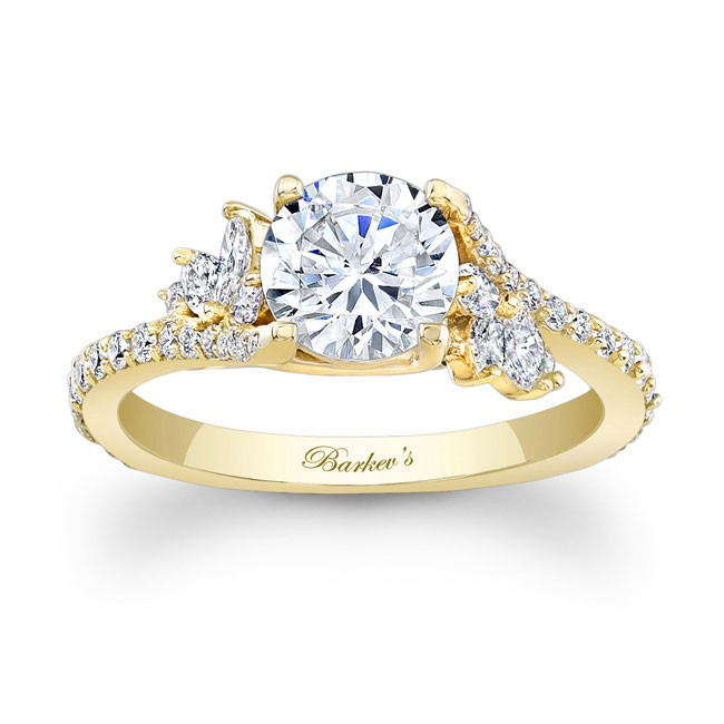 Barkevs Yellow Gold Engagement Ring 7908LY