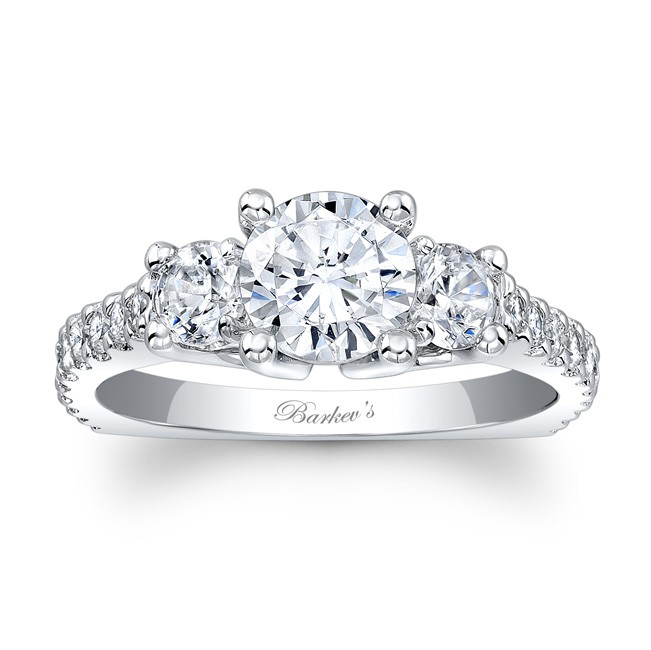 Barkevs Three Stone Engagement Ring 7925L