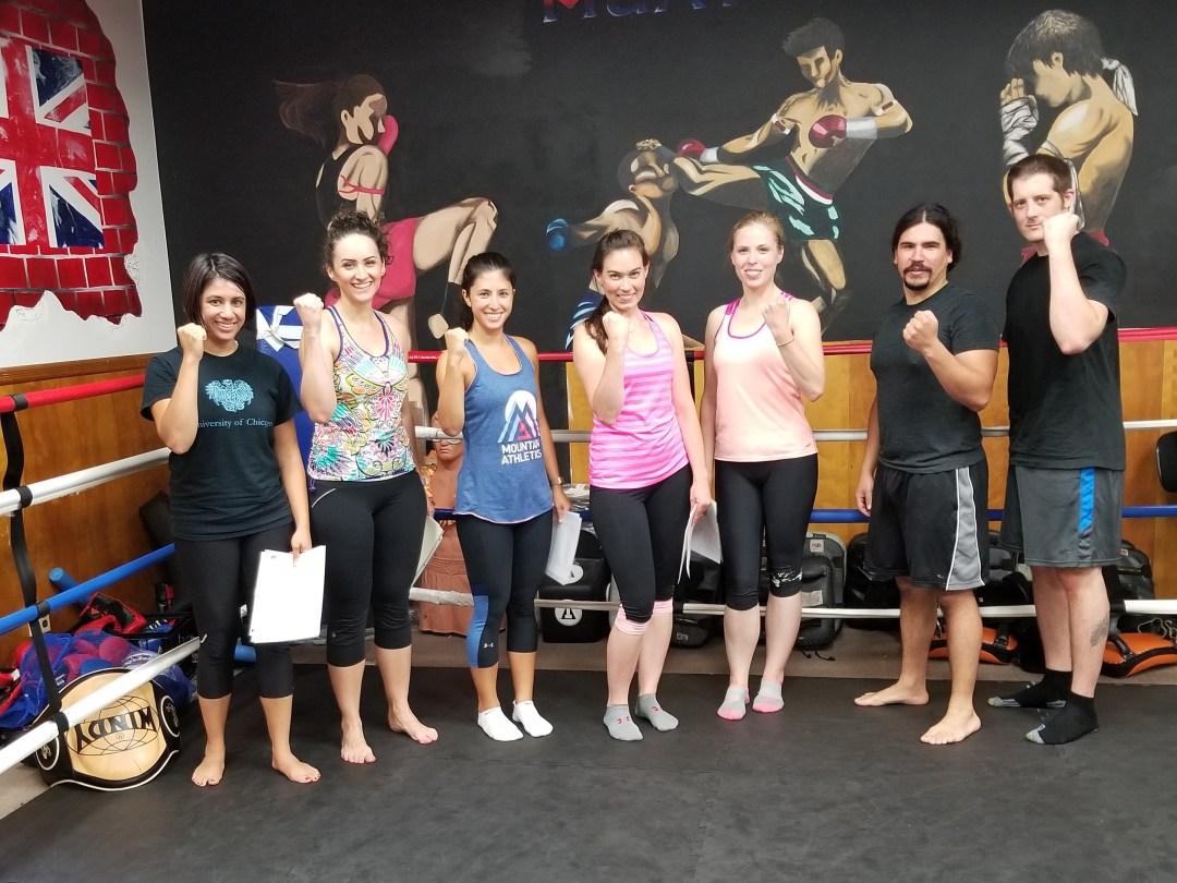 Beginners Muay Thai kickboxing graduation class July 2017