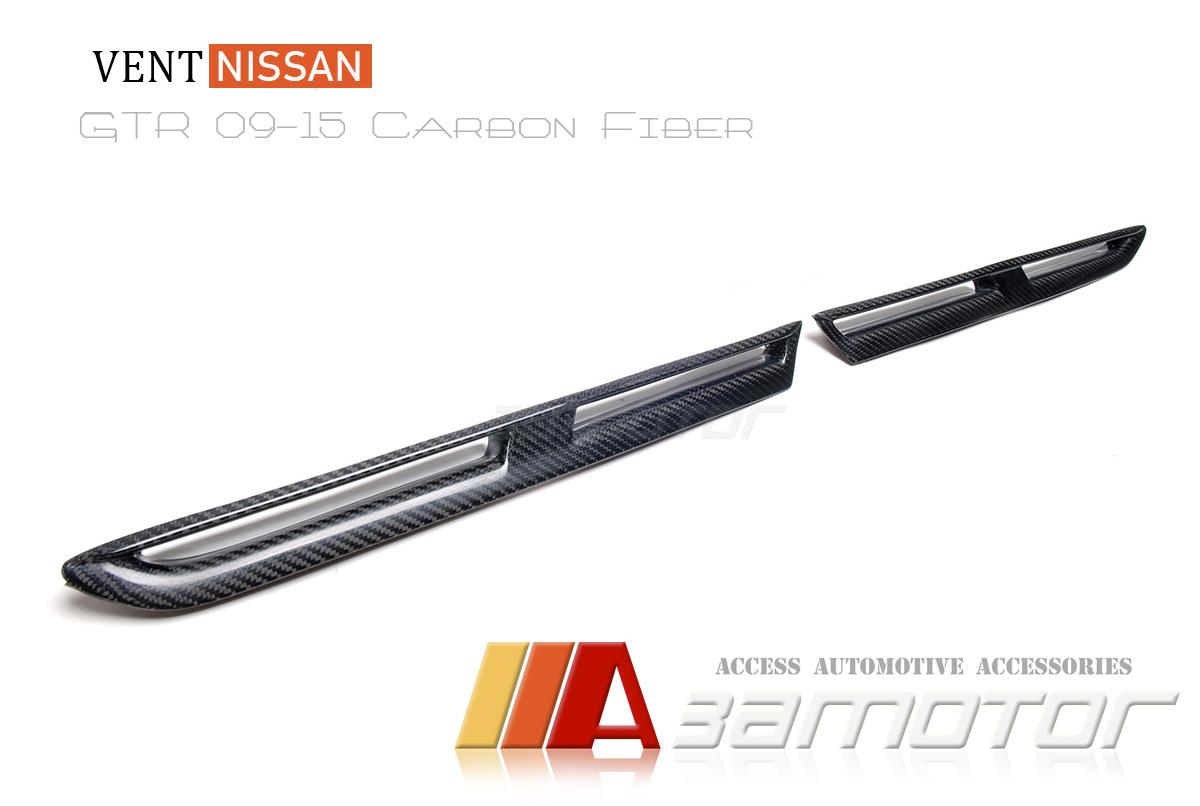 Carbon Fiber Front Fender Wing Side Vents Set For