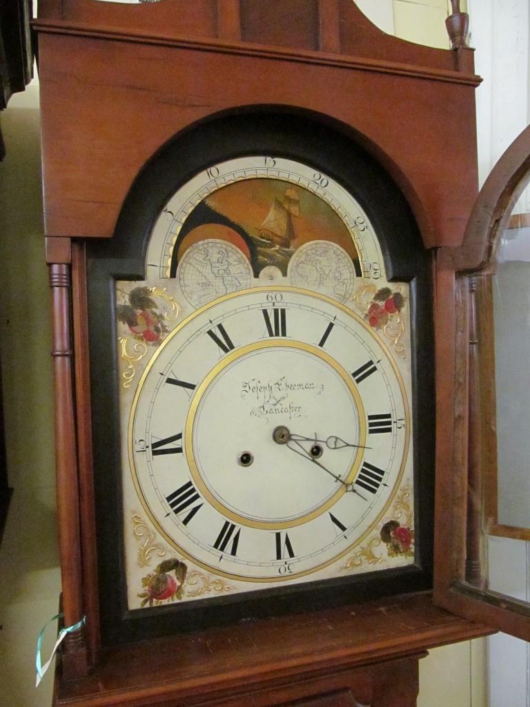 Antique American Cherry Cased Longcase Clock George C