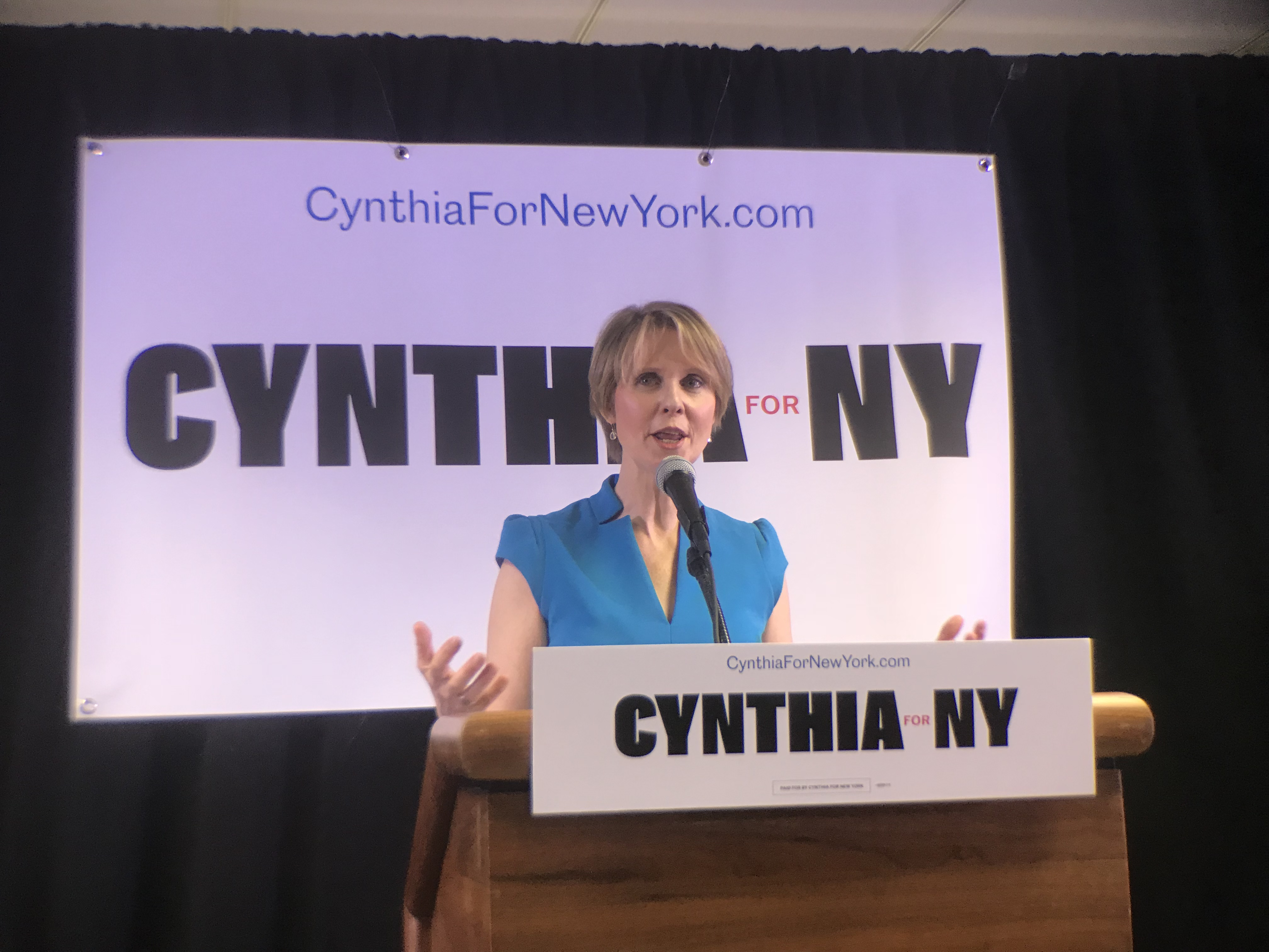 Cynthia Nixon Criticizes Cuomo, Calls Albany