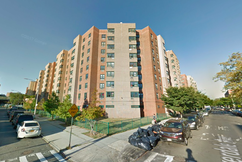 The Riverdale Towers on Thatford Avenue in Brownsville where the quadruple murder took place