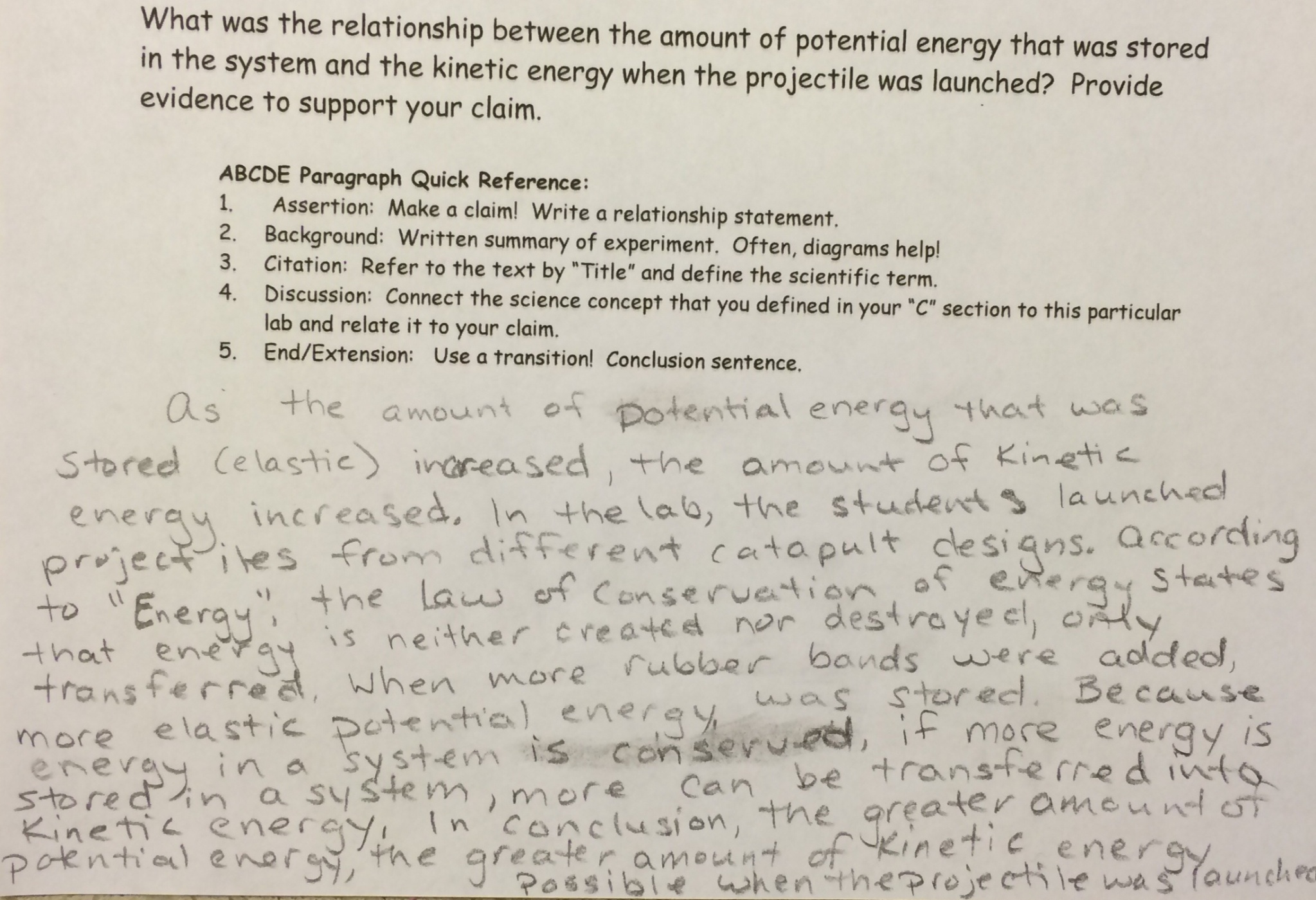 Connecting Concepts Science Worksheet Energy Answers