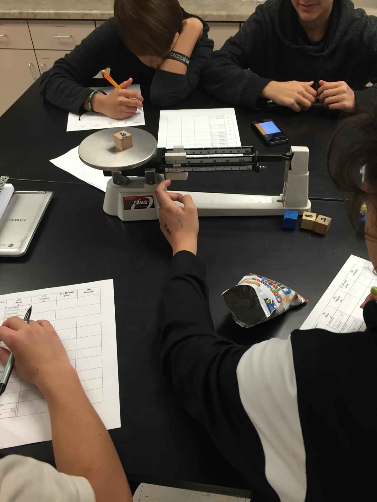 Eighth Grade Lesson Density Lab Volume By Formula