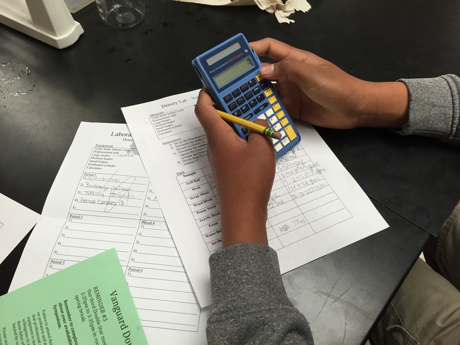 Eighth Grade Lesson Density Lab Volume By Displacement