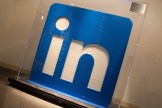 LinkedIn Logo made of Lego