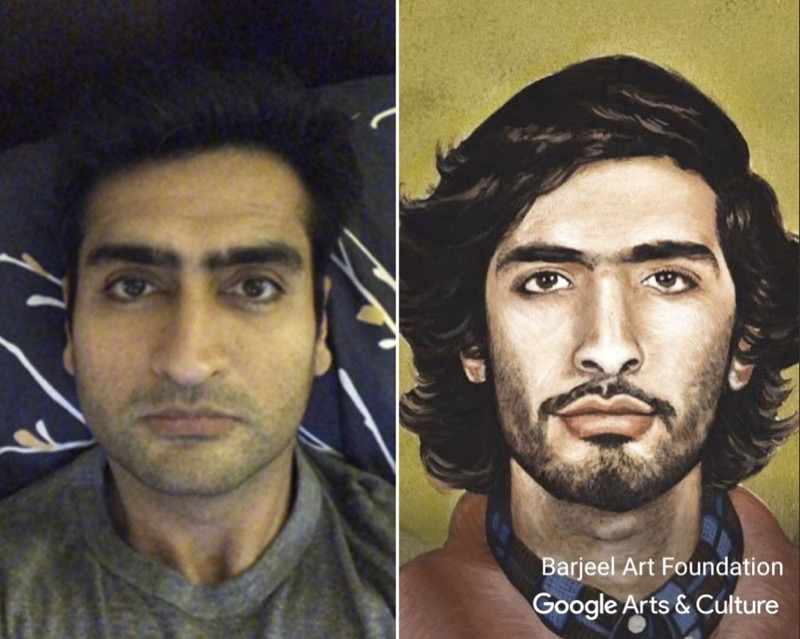 Kumail Nanjiani art selfie