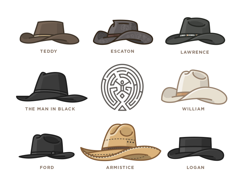 Westworld hats