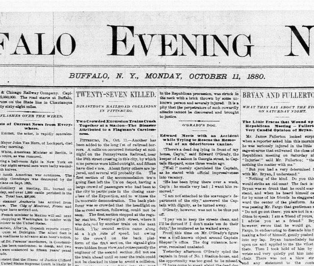 Oct 11 1880 The Buffalo Evening News Inaugural Edition The Buffalo News