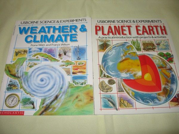 2 Usborne Science Experiments Planet Earth Weather