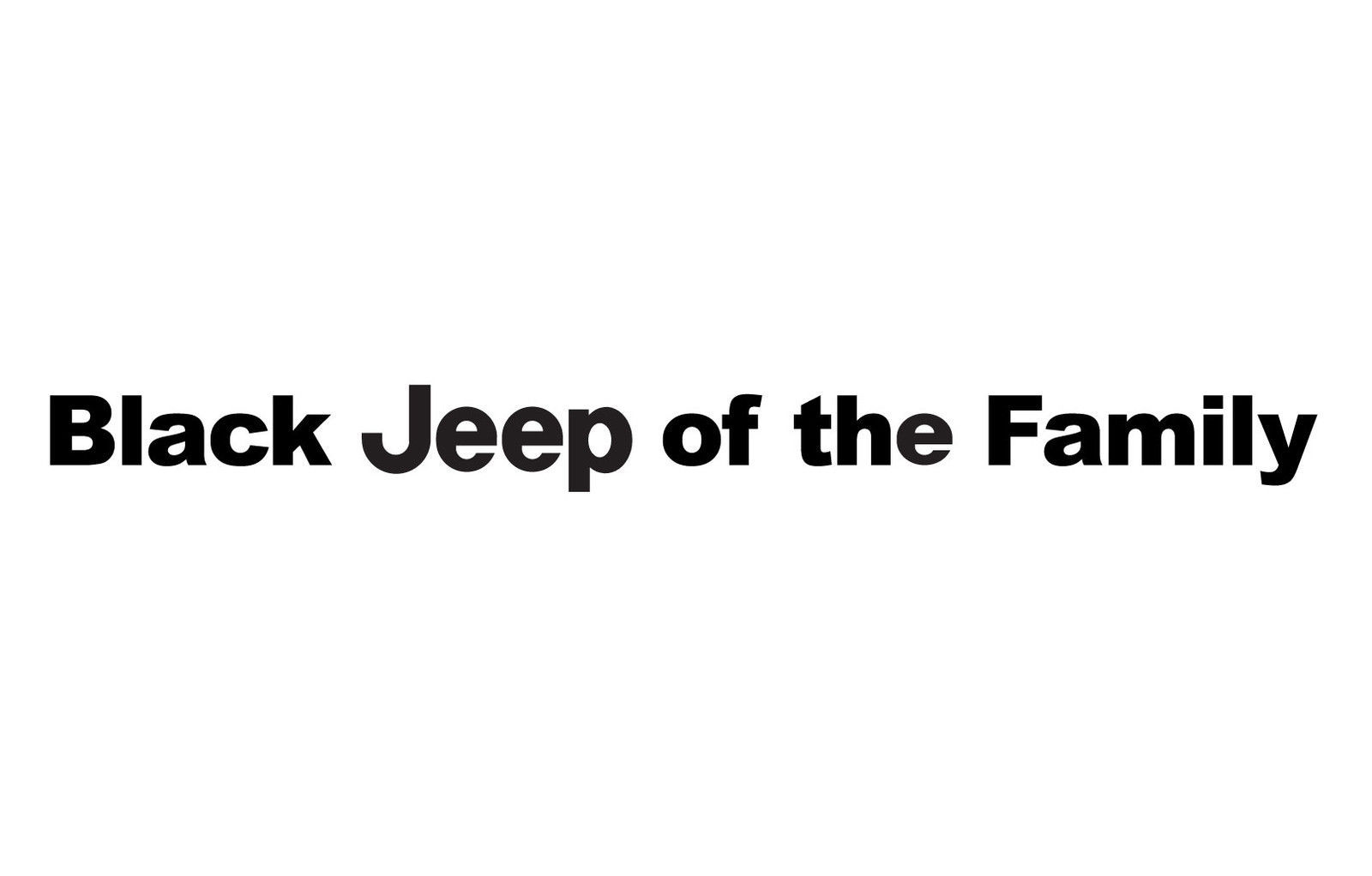 Black Jeep Of The Family Windshield Decal And 50 Similar Items