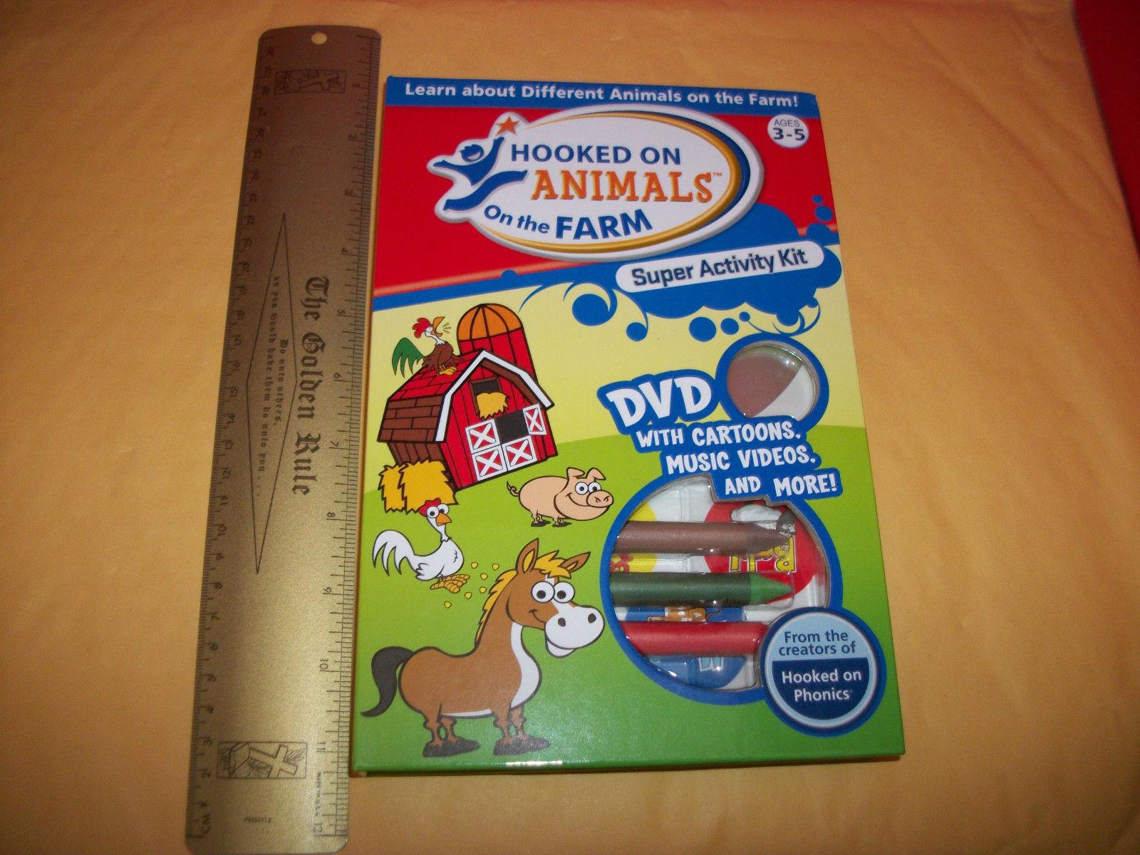 Education Craft Book Kit Hooked On Farm Animals Dvd Phonics Activity Set Learn