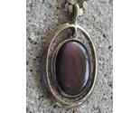 Purple Fluorite Pendant on 20 inch 925 Silver Chain