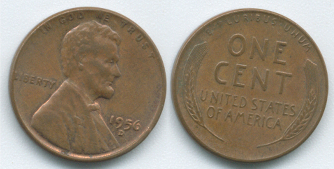P92 1956 D Lincoln Wheat Penny Lincoln Wheat 1909 1958