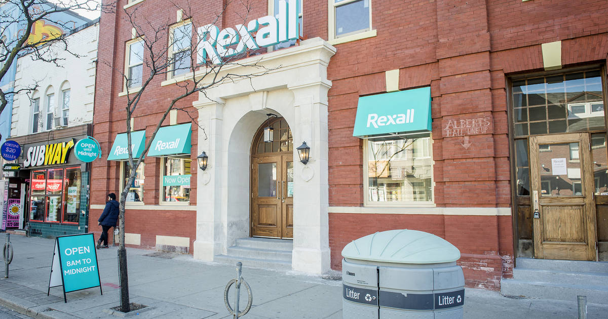 The Brunswick House Is Now A Rexall Drug Store