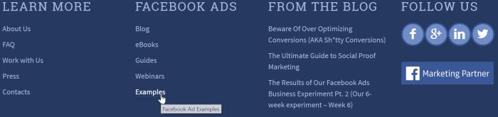 AdEspresso Facebook Ad Examples