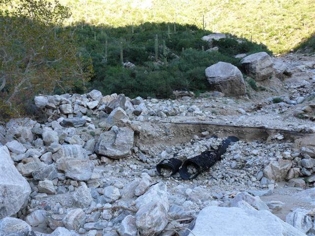 Road Damage in Sabino Canyon