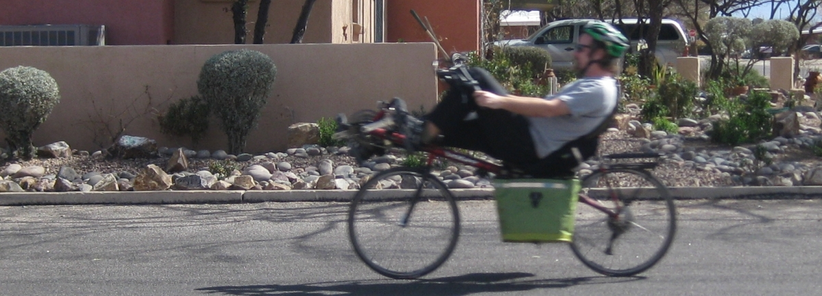 Riding my Volea Recumbent thru a Tucson Neighborhood