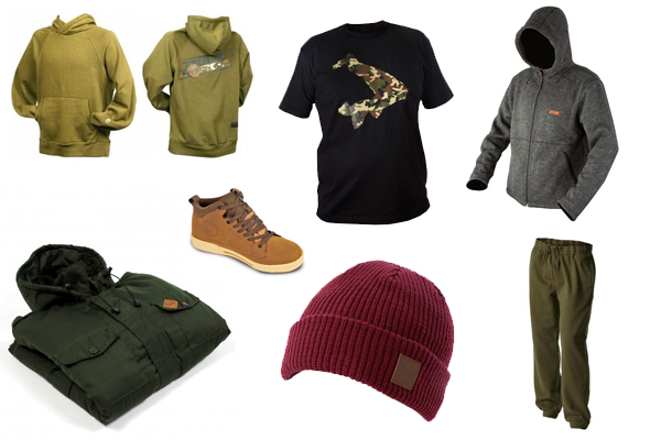 Carp fishing clothing ranges