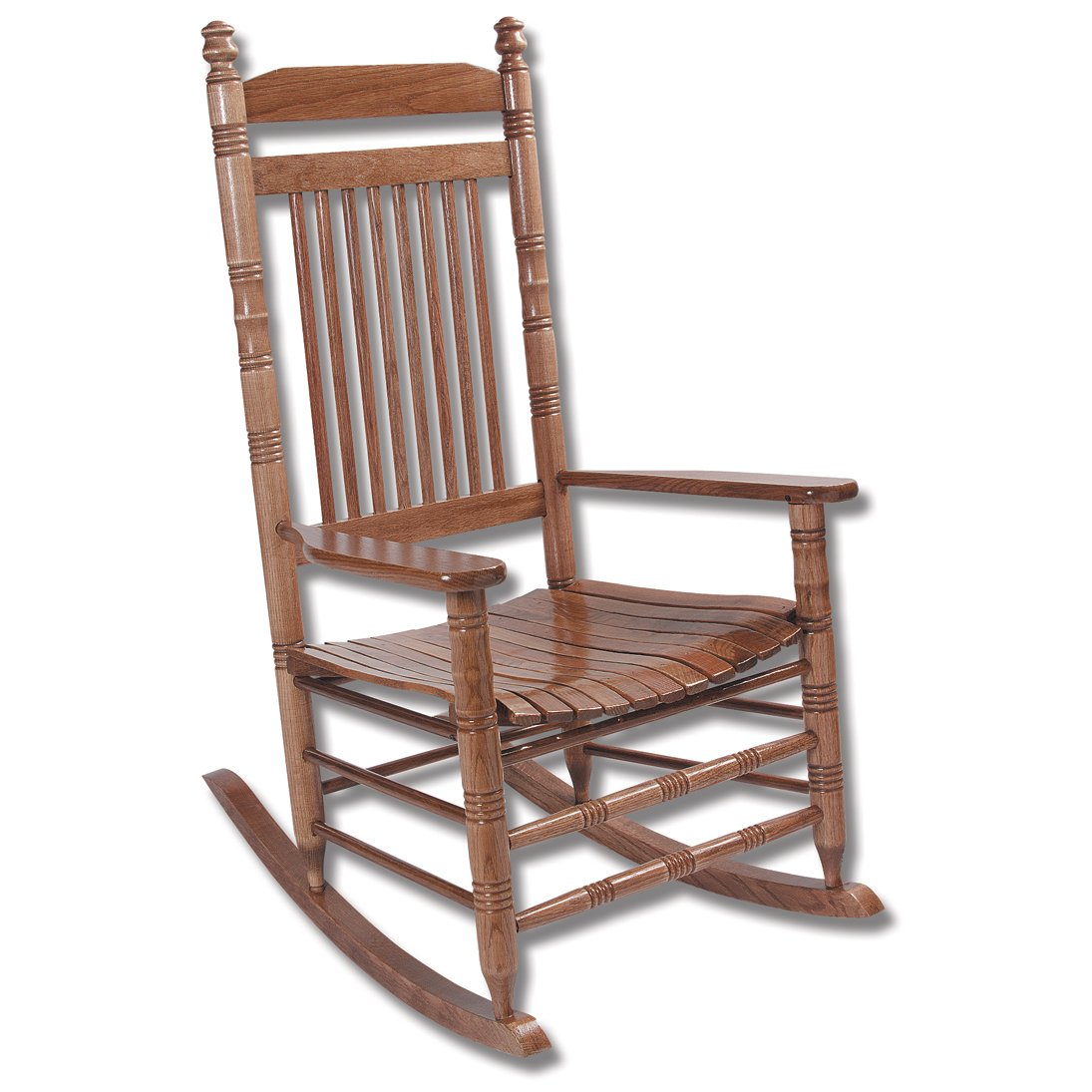 hardwood slat rocking chair fully