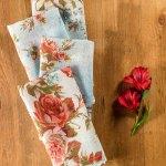 Heirloom Rose Linen Napkin S 4 April S Attic Sale Linens Kitchen Attic Beautiful Designs By April Cornell