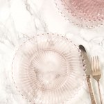 Aurora Glass Plates Set Of 4 Kitchen Table Linens Tableware Beautiful Designs By April Cornell