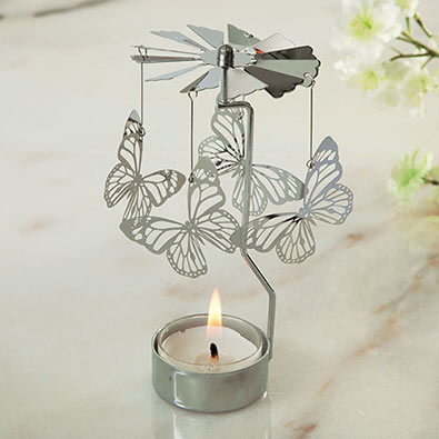 Butterfly Spinning Tea Light Bits And Pieces UK