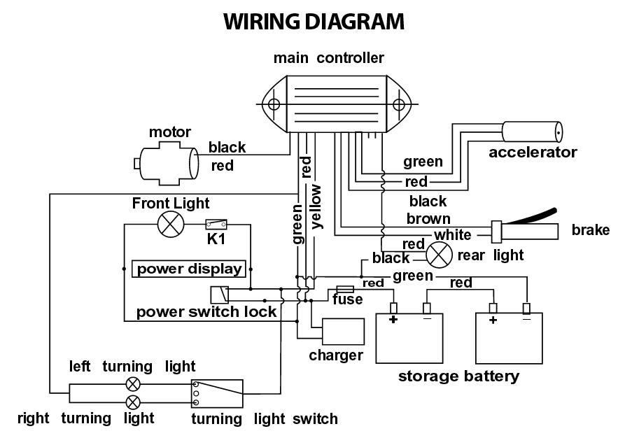 Terminator ES04 Electric Scooter Wiring Schematic Help