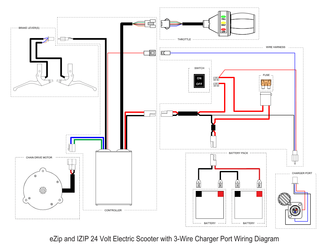 Boreem Electric Scooters Wiring Diagrams