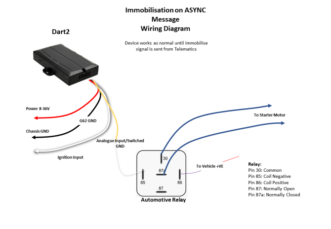driver id  immobilisation methods with powered devices