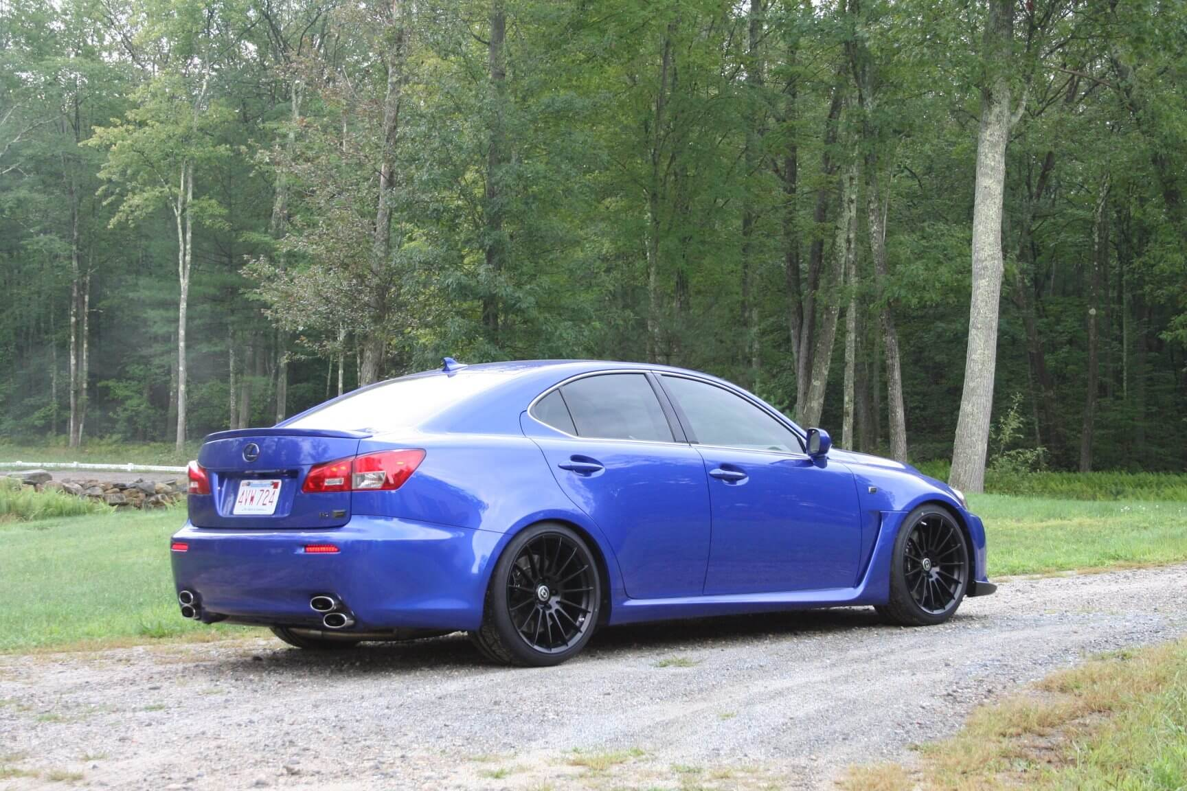 Lexus IS F with HRE FF15 in Tarmac