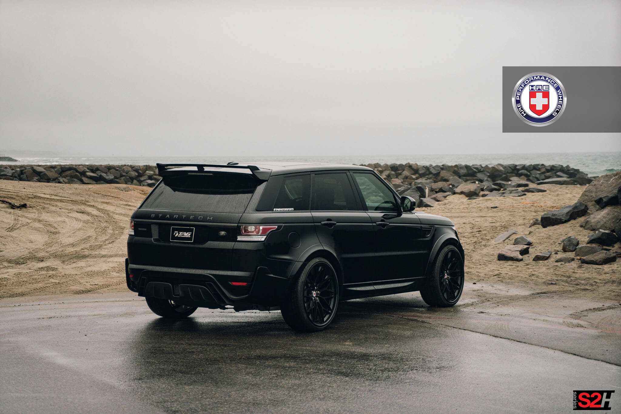 Range Rover Sport with HRE S200H in Satin Black