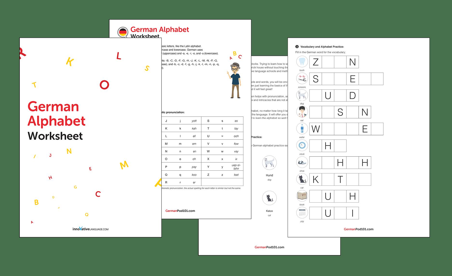 German Alphabet Chart