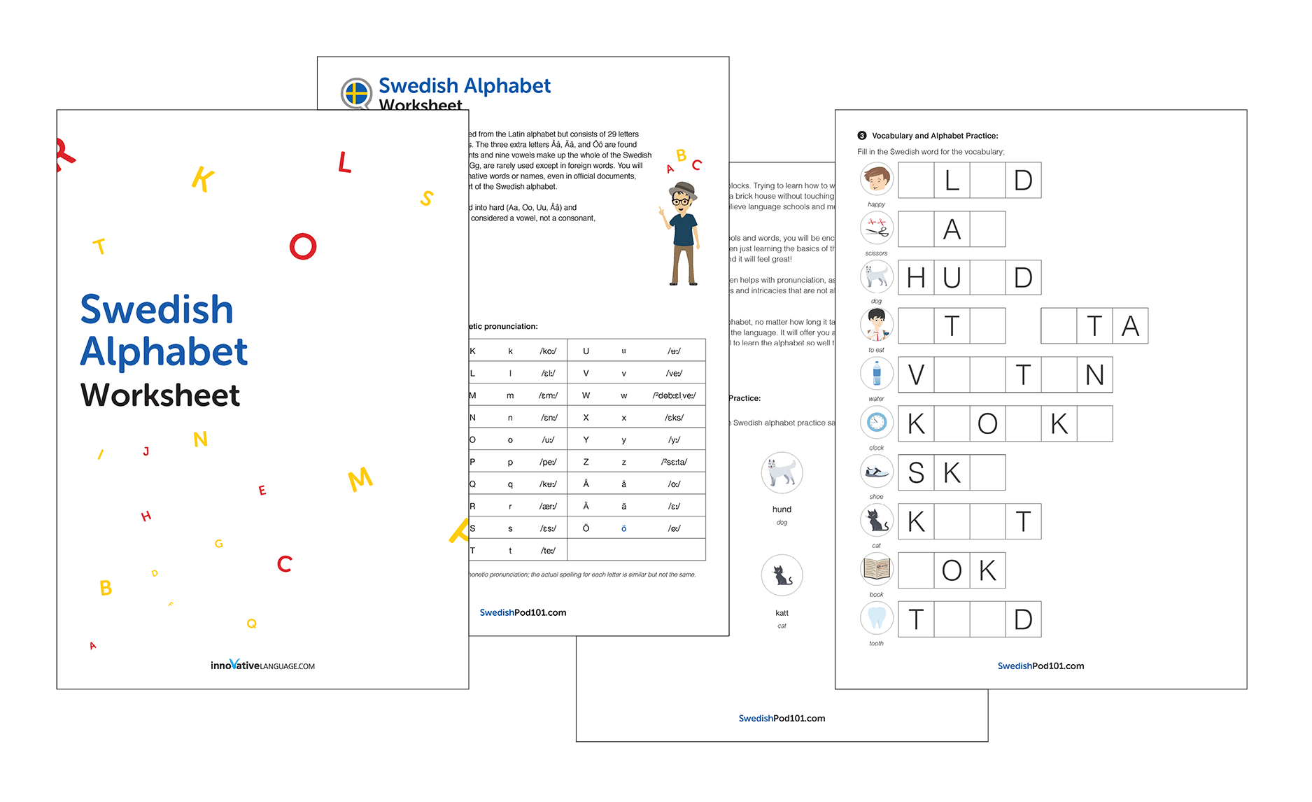 Swedish Language Worksheets
