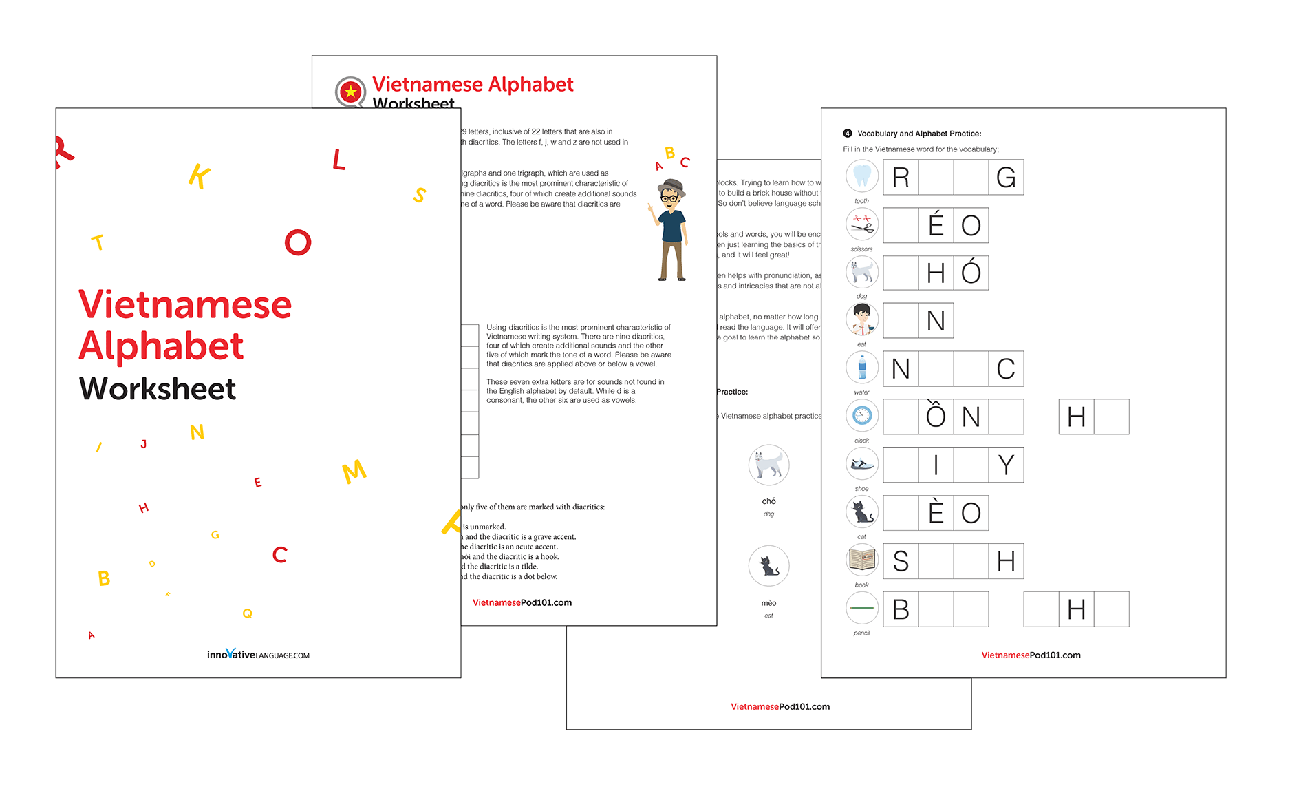 Learn The Vietnamese Alphabet With The Free Ebook