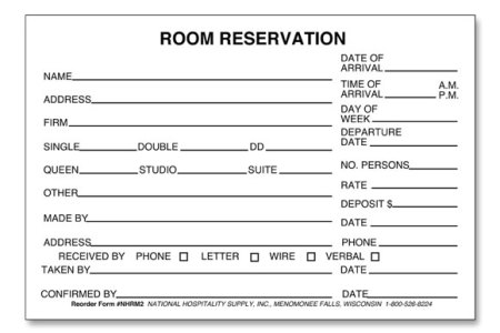 hotel registration form template word » Best Free Fillable Forms ...